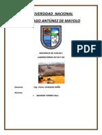 INFORME DE COMPACTACION Y DENSIDAD DE CAMPO