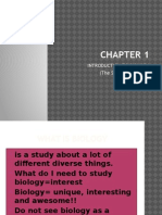 Chapter 1 form 4 biology
