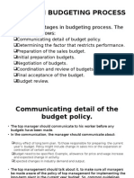 Stages in Budgeting Process