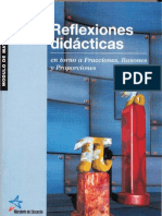 Reflexiones didácticas en torno a Fracciones, Razones y Proporciones