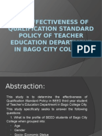 The Effectiveness of Qualification Standard Policy of Teacher (2)