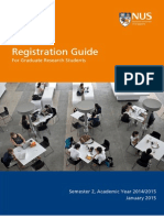 Registration Booklet for Graduate Research Students
