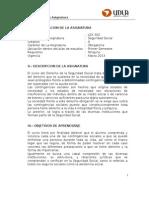 Programa Seguridad Social, 2013, LEX 502