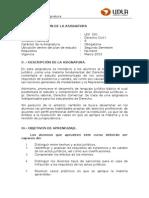 Programa Derecho Civil I, 2013