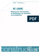 NRC-Manual for Screening of Buildings for Seismic Investigation