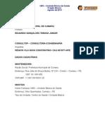 Relatório Técnico - Memorial