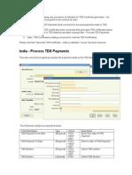 TDS Certificate Generation