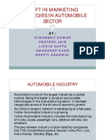 Shift in Marketing Strategies in Automobile Sector