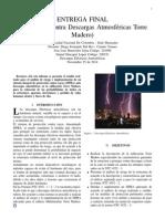 "Protección contra descargas atmosfericas ""Torre Madero"""