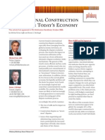 International Construction Disputes in Todays Economy