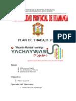 Plan de Trabajo de Telecentro 2014 + Telecentro Huamanga