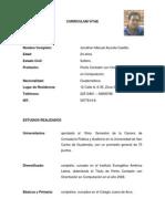 Curriculum Vitae Jonathan Manuel Azurdia Castillo