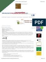 Gestion Restaurantes. - Reflexiones y Reglas de Maridaje. Artículos e Informes. Artículos de Gestión