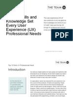 UX Skills