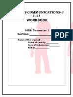 Workbook Sem i