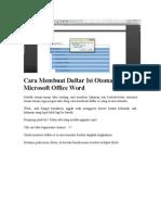 Cara Membuat Daftar Isi Otomatis Pada Microsoft Office