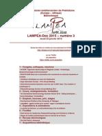 LAMPEA-Doc 2015 – numéro 3 / Jeudi 22 janvier 2015