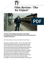 'the Last of the Unjust' Review_ Claude Lanzmann's Rewarding Holocaust Documentary _ Variety