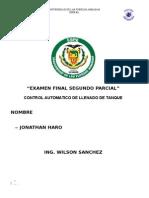 Informe Control Llenado de Un Tanque (TIA)