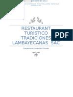Final Del Trabajo- Restaurant Turistico Tradiciones lambayecanas