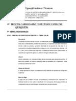 Especificaciones Técnicas TROCHA CARROZABEL Y SSHH