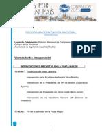 Programa Convencion Nacional