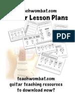 Guitar Lesson Plans