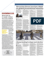 Terrorism Forces Tourism Chiefs on Global Promotional Missions - Gulf Times 22 Jan 2015