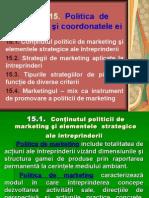 Politica  de marketing şi coordonatele ei