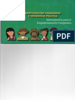 Cartilla Participación Ciudadana e Incidencia Política