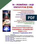 1. Invitatia La Simpozionul International - UNIVERSUL STIINTELOR - Editia a v-A (1)