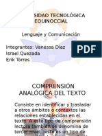 comprension Analogica Del Texto