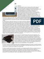 Máquina de Escribir y herramientas de dibujo tecnito