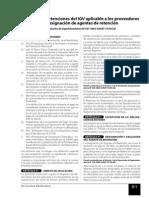 Trib SRégimen de retenciones del IGV aplicable a los proveedores  y designación de agentes de retencióneccion d