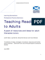 Teaching Reading to Adults