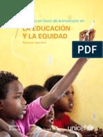 El argumento en favor de la inversión en la educación y la equidad