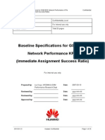 2. Baseline Specifications for GSM BSS Network Performance KPIs (Immediate Assignment Success Ratio)