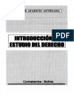 Walter Aparicio Antezana - Introduccion Al Estudio Del Derecho