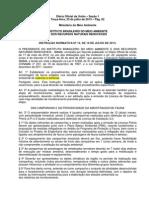 IBAMA - Instrução Normativa #13 de Julho 2013 - Licenciamento Rodovias e Ferrovias