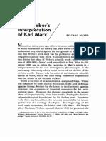 Mayer - Weber's Interpretation of Marx