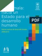 Informe Nacional de Desarrollo Humano Guatemala 2009-2010