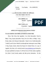 LIBERI v TAITZ (APPEAL) - Request for Judicial Notice Document 00319985848 Transport Room