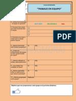 Ficha de Revisión de Trabajo en Equipo Cooperativo