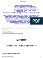 Notice to All Public Servants