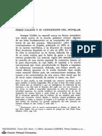 Pérez Galdós y su concepción del novelar - Gustavo Correa