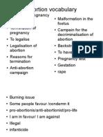 Abortion Vocabulary