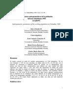 Parametros Antropometricos de La Poblacion Laboral