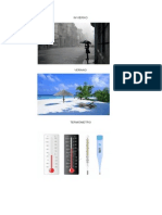 Invierno Verano y Termometro