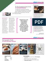 Where Magazine Media Kit 2015