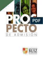 Prospecto de Admisión - Universidad Antonio Ruiz de Montoya
